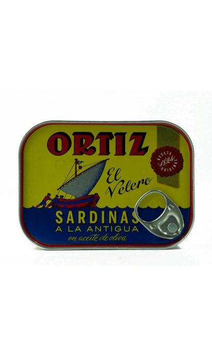 ORTIZ SARDINES ANCIENNE HUILE OLIVE 140GR