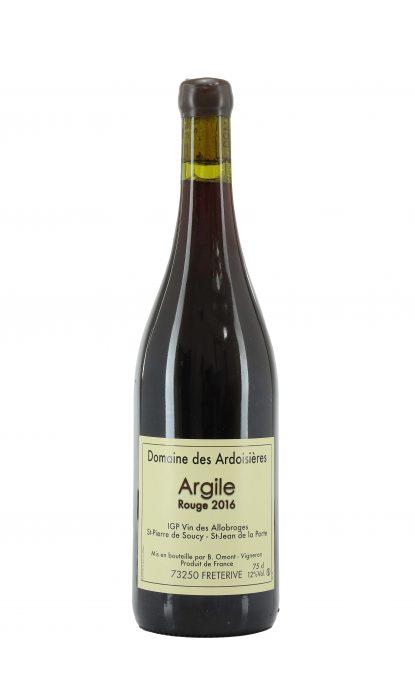 Domaine des Ardoisières vin des Allobroges Argile rouge 2016